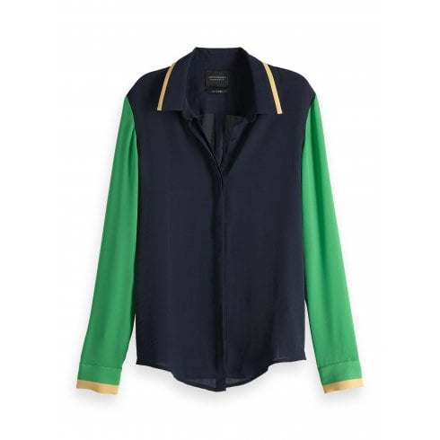 Maison Scotch Colour Block Shirt - 149788