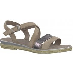 Marco Tozzi Flat Crossover Sandal - 28126