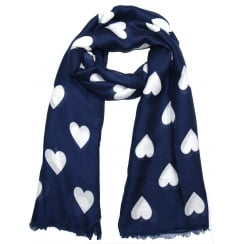 NAVY & GREY REEVO SCARF 1705-012