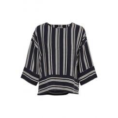 Navy Part Two Striped Blouse - Laila BL