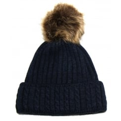 Navy Something For Me Bobble Hat - 391114