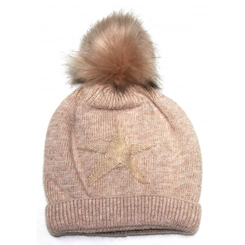 Something For Me Nude Star Something For Me Bobble Hat - 391216