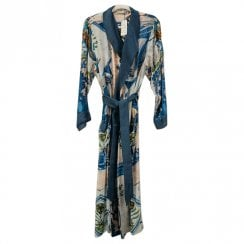 One Hundred Stars - Dressing Gown Kimono - Delft