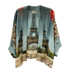 One Hundred Stars - Eiffel Tower Kimono