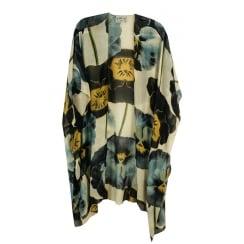 One Hundred Stars - Long Throwover Kimono Pansy