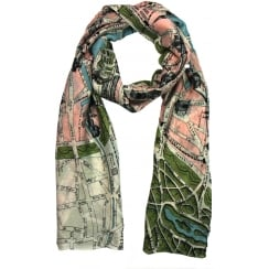 PARIS PARIS MAP SCARF