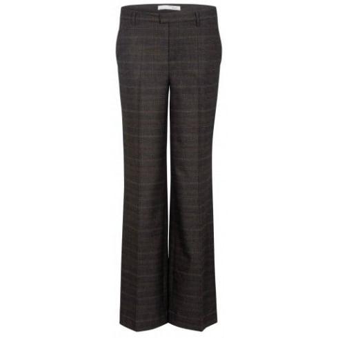 Oui Check Trouser 56169