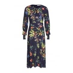 Oui Long Patterned Dress - 61364