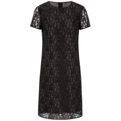 Oui Short Sleeved Little Black Dress 50817