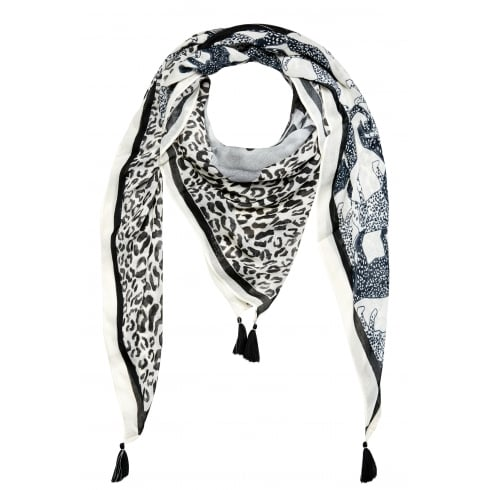 Oui Patterned Scarf - 62255