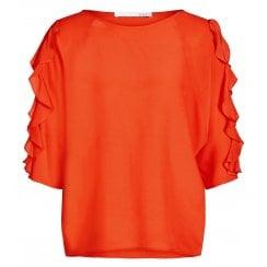 Oui Ruffle Sleeve Blouse - 65429