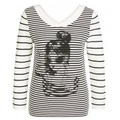 Oui Striped Jumper - 65081