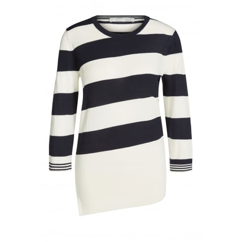 Oui Striped Sweater - 60649