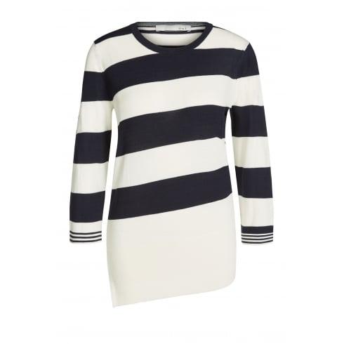Oui Striped Sweater - 60649