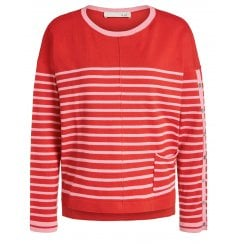 Oui Striped Sweater - 64707