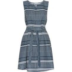 Part Two Linen Print Dress Daria