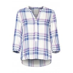 Part Two V-Neck Check Detail Blouse - Chichi 30304232