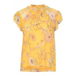 Part Two Yellow Floral Blouse - Rosario 30304114