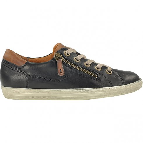Paul Green 4128 Leather Trainer with Zip