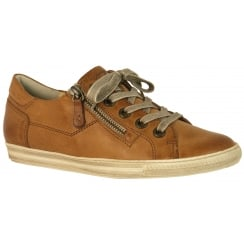 4128 Leather Trainer with Zip
