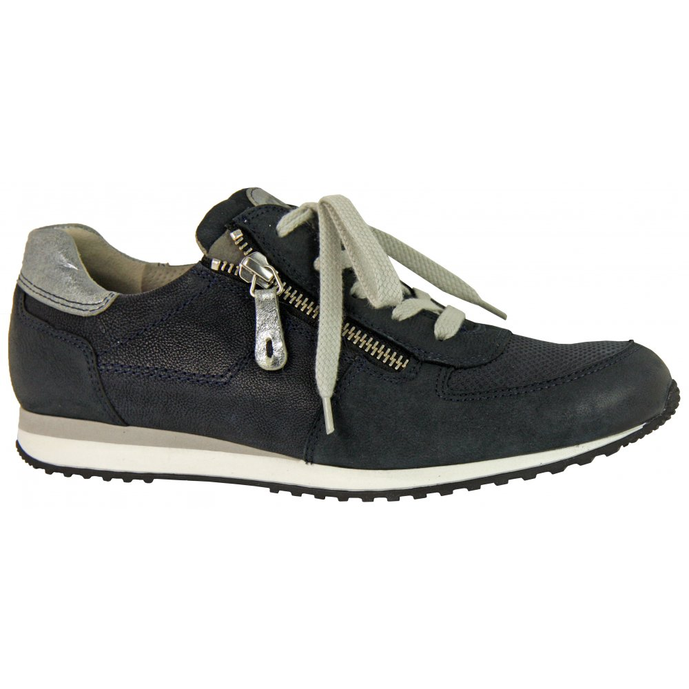 63b3fdaeed00c Paul Green 4252: Leather Trainer