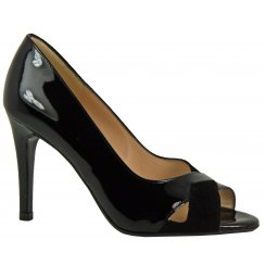 Alda Patent Leather Peeptoe Heel