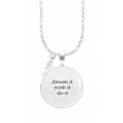 DREAM IT WINGED WORDS NECKLACE