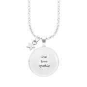 LIVE LOVE WINGED WORDS NECKLACE