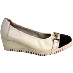 Sabrina Patent Toe Cap Wedge - 82001