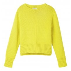 Sandwich Knitted Sweater with Chunky Hems - 21001454