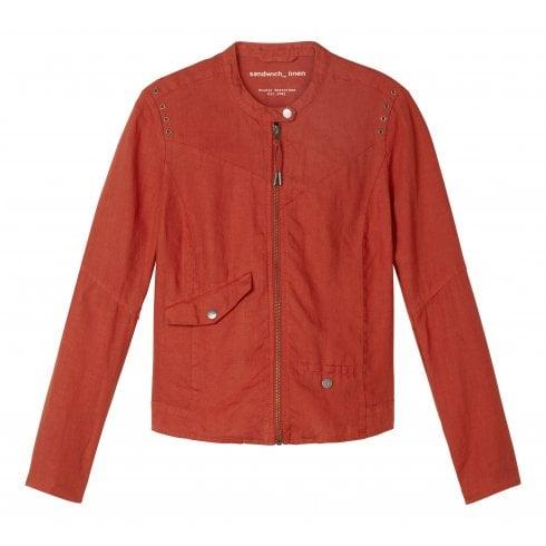 Sandwich Ladies Linen Zip Up Jacket - 25001480