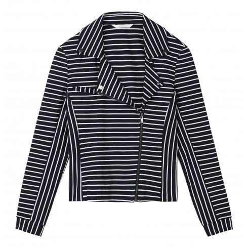 Sandwich Ladies Striped Zip Up Jacket - 25001488