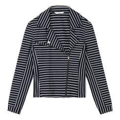 Sandwich Ladies Striped Zip Up Jacket - 25001488