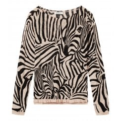 Sandwich Ladies Zebra Print Sweater - 21001464