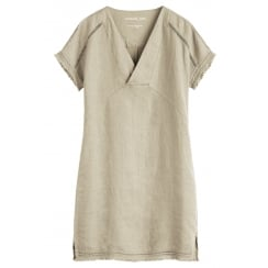 Sandwich Linen Dress - 23001362