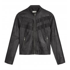 Sandwich Suede Effect Biker Jacket - 25001512