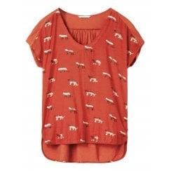 Sandwich T-Shirt with Leopard detail - 21101633