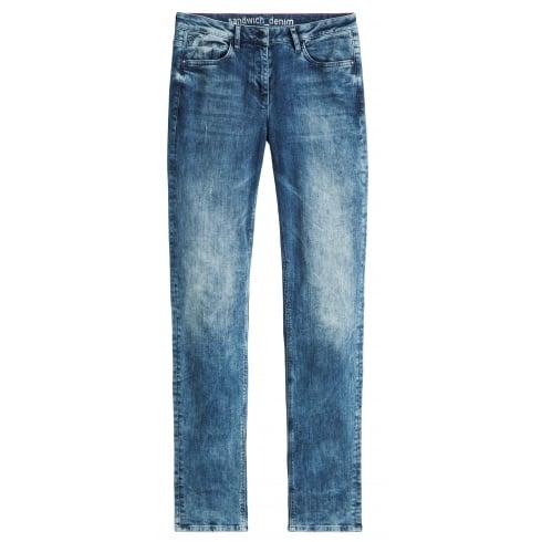 Sandwich Washed Denim Jeans - 24001339