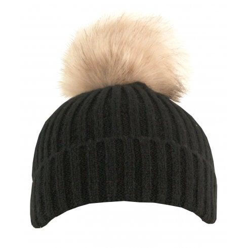 Something For Me - Faux Fur PomPom Hat - 399601