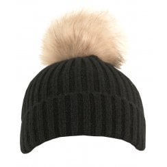 Something For Me - Faux Fur PomPom Hat - 399601