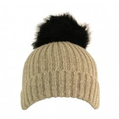 Something For Me - Faux Fur PomPom Hat - 399605
