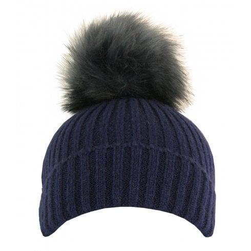Something For Me - Faux Fur PomPom Hat - 399614