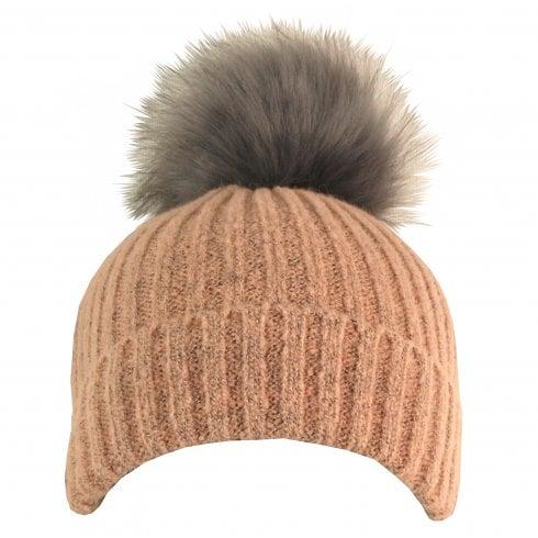 Something For Me - Faux Fur PomPom Hat - 399616