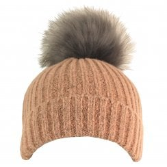 Something For Me - Faux Fur PomPom Hat - 399616