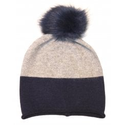 Something For Me Faux Fur Pompom Hat - 447014