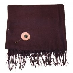Something For Me Pashmina Scarf with Pin - 387017