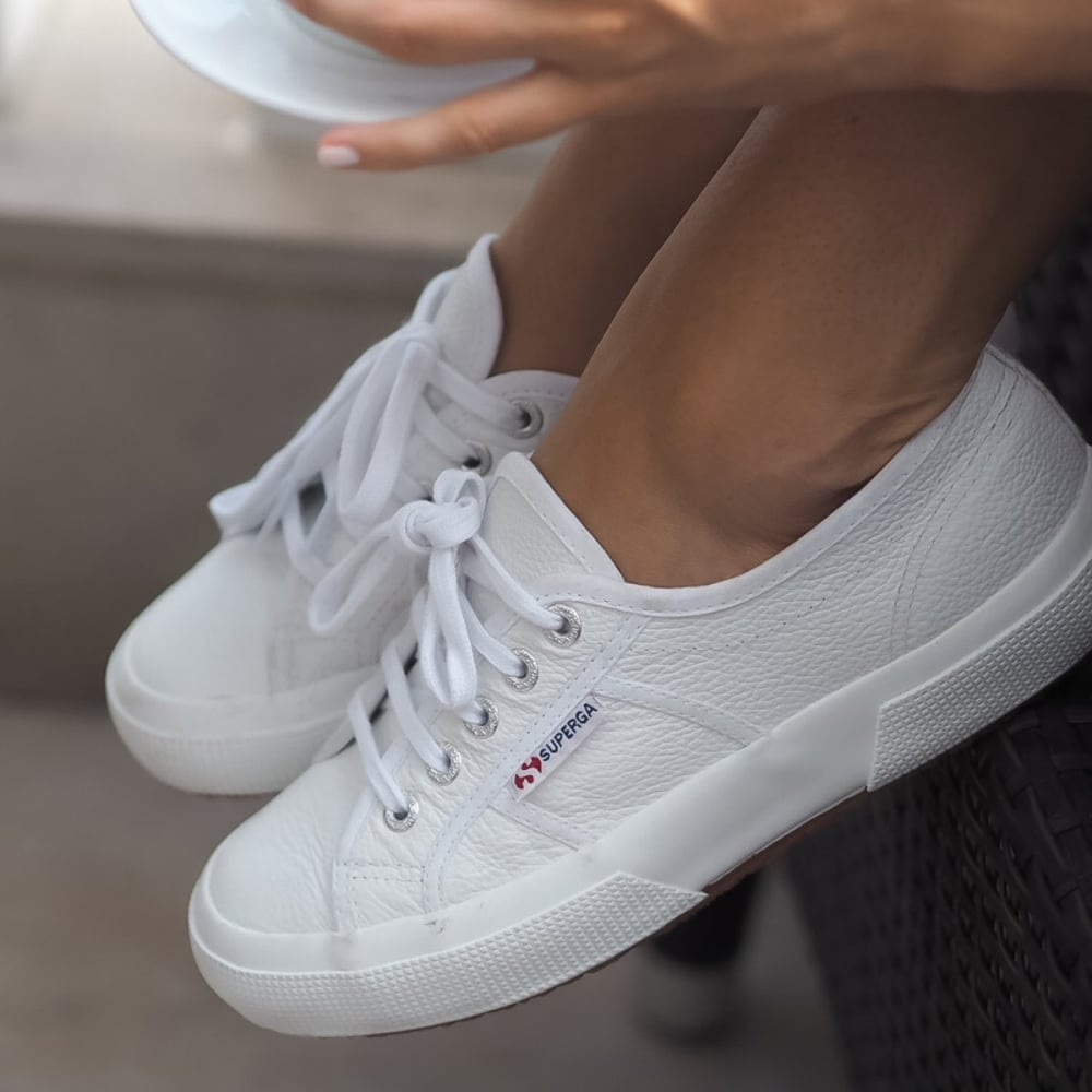 8ad680e05646 White Efglu Superga Trainer from Something For Me
