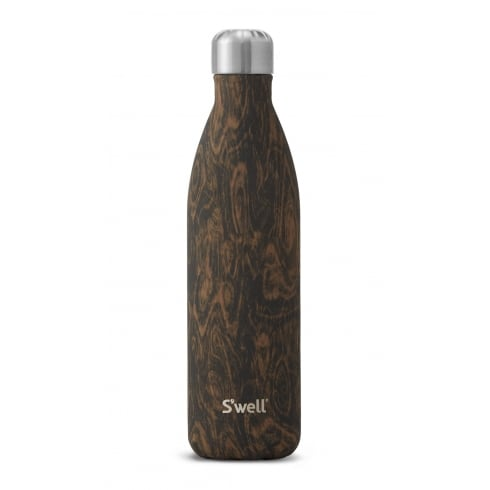 S'well Swell Bottle - Wood Collection - Wenge Wood Large - 750-ML/25-OZ