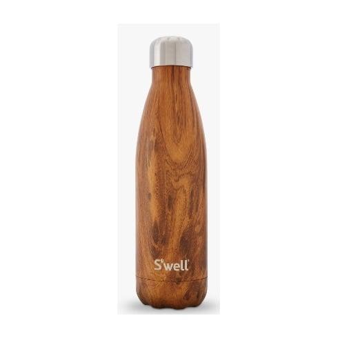 S'well Water Bottle - Wood Collection - Teakwood Medium - 500-ML/17-OZ