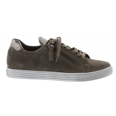 Gabor Taupe & Navy Danube Gabor Trainer Shoe 76.488